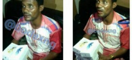 Toyin Aihmakhu's Ex Seun Egbegbe Beaten To Pulp After Allegedly Stealing Iphones At Lagos Computer Village