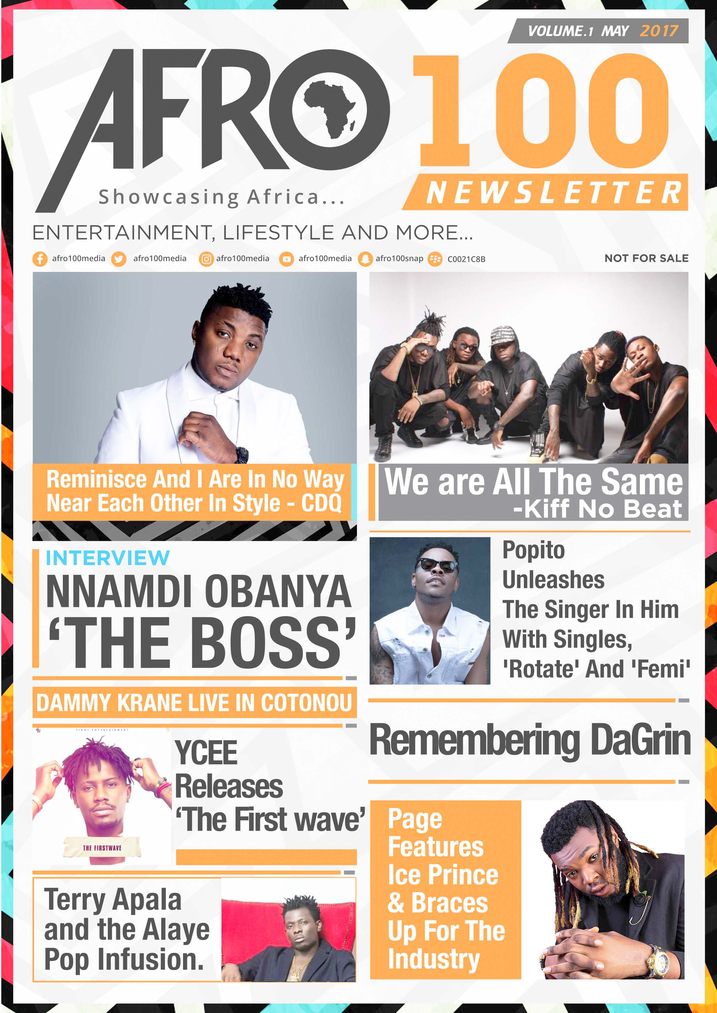 Afro100 newsletter front cover